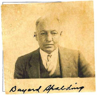 Baird T Spalding's 1935 passport photo